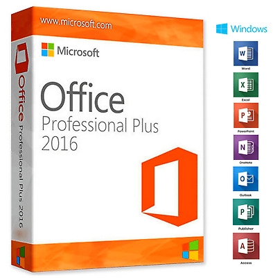 Microsoft Office 2016 Professional Plus - Official Download & Key- 32/64 Bit