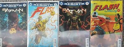 DC Universe Batman 21,22 Flash 21.22 Lenticular Covers - The Button (4 issues)