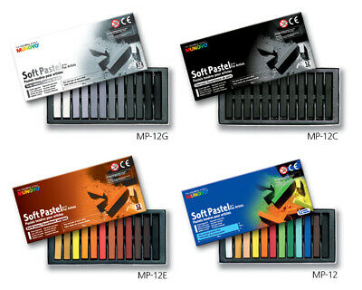 Mungyo Artists Standard Square Size Soft Pastels Grey Earth Charcoal Tone