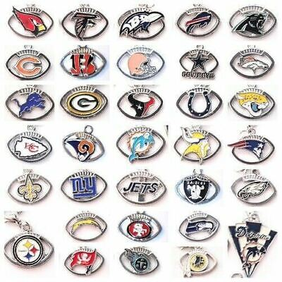 Buy 3, Get 2!  NFL PRO FOOTBALL TEAM Floating Dangle Charms w/Lobster Clasp