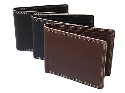 New 2019 Mens Leather Wallet, Credit Card Holder, Purse Black Boxed Fast Shippin