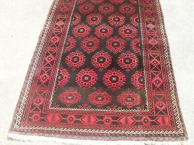 large persian vintage rug carpet oriental wool hand knotted -bokhara