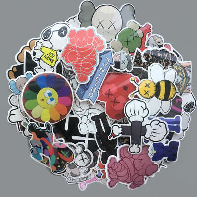 65Pcs PVC Original Fake Cap Kaws Stickers Bomb Skateboard Luggage Laptop Decals