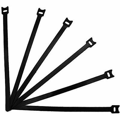 12 Inch Reusable Cable Ties Microfiber Cloth Hook And Loop Straps Ultra Thin Pcs