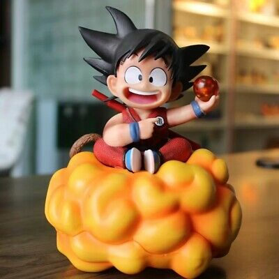 Dragon Ball Z GK Child Son Goku On Somersault Cloud Resin Figure In Box Yellow
