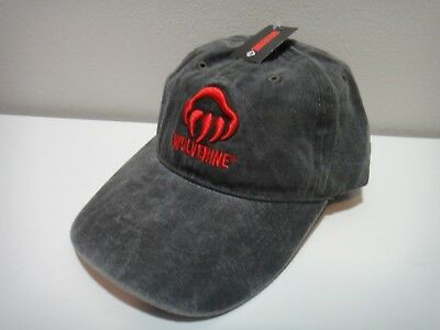 new style cf45d b1732 Wolverine Mens Hat One Size Cotton Color Bluish Gray   Red
