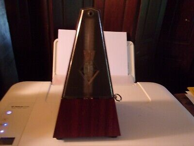 Wittner Metronome System Made in Germany Plastic Walnut Grain - Great Condition