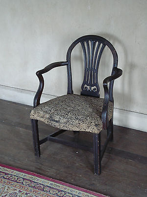 Original18Th C Georgian Mahogany Carver Or Armchair Style Of Hepplewhite