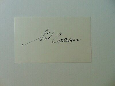 """Your Show of Shows"" Sid Caesar Hand Signed 3X5 Card JG Autographs COA"