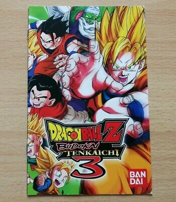 Manual Instrucciones Dragon Ball Budokai Tenkaichi 3 Iii Playstation 2 Ps2 Pal