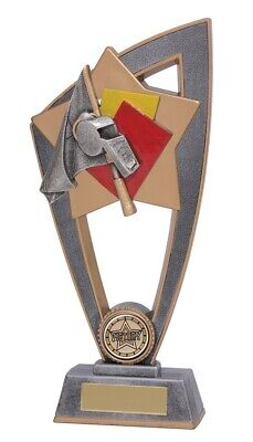 Star Blast Referee Officials Trophies Trophy 3 sizes FREE Engraving