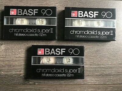 CASSETTE - 3x BASF 90 CRS II - NEW SEALED - OLD STOCK !!!