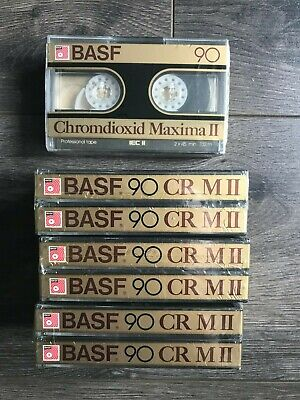 CASSETTE - 1 Pack of 2x BASF 90 CR M II High Bias - NEW SEALED - OLD STOCK !!!