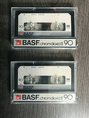 CASSETTE - 2x BASF CR II 90 - NEW SEALED - OLD STOCK !!!