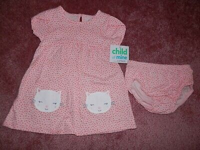 5f042108 CARTERS BABY GIRL Swan Tank Dress Diaper Cover Set Pink Size 24 ...