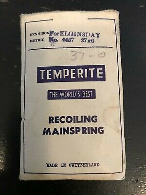 Temperite Mainspring for Elgin 37s 8 Day Clocks #4457 - Steel