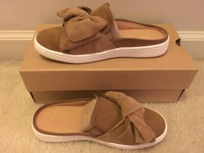 122cf0a75c1 UGG AUSTRALIA WOMENS LUCI BOW Chestnut Brown 1092515 Shoes Slip On ...