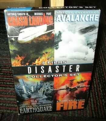 4 Film Disaster Collector's 2-Disc Dvd Set, Avalanche/Fire/Earthquake/Cr.landing