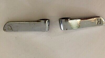 Lot of 2 Antique Chrome Hot and Cold Faucet Handles, Steampunk knobs Chrome