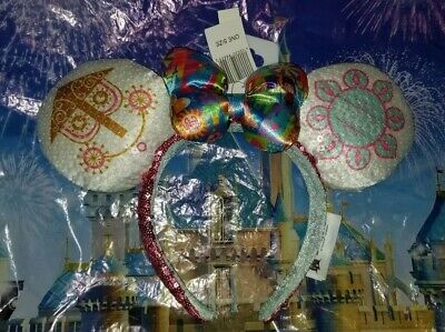 NEW WITH TAGS Disney Parks It's A Small World Minnie Mouse Ears Headband