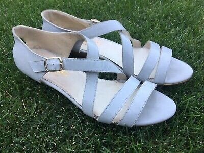 d218ccbf4e7d9 PAPPAGALLO SANDAL WEDGE Leather Heels Shoes 9 M Italy Gray Vintage ...