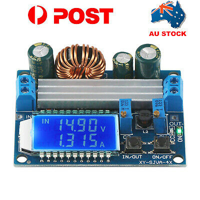 DC-DC Adjustable Buck Boost Converter Step Down Power Supply Module 5.5-30V LCD