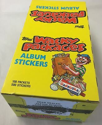 Wacky Packages 1986 Stickers Card Box 100 Packs X-out