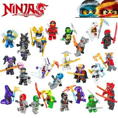 UK Stock 24Pcs Ninjago Mini figure Kai Jay Sensei Wu Master Building Blocks Toys