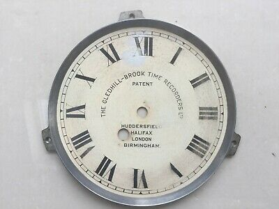 Gledhill Brook Fusee Clocking In Machine Time Recorder Clock Face Dial