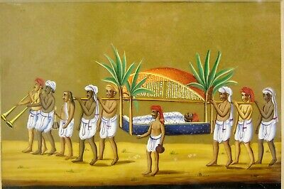 19th Century Anglo Indian Company School Gouache Palanquin Procession