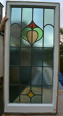 British leaded light stained glass window sash. R760b. WORLDWIDE DELIVERY