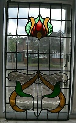 Leaded light stained glass window panel. MG944e. DELIVERY OPTION
