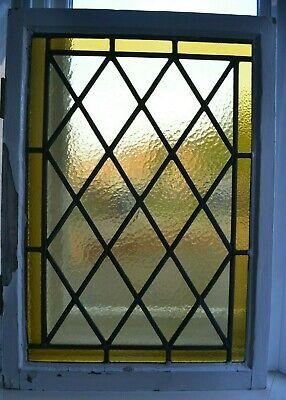 4 leaded light stained glass window sashes. R789. NATIONWIDE DELIVERY