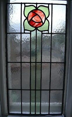 British leaded light stained glass window panel. R795. WORLDWIDE DELIVERY!!!