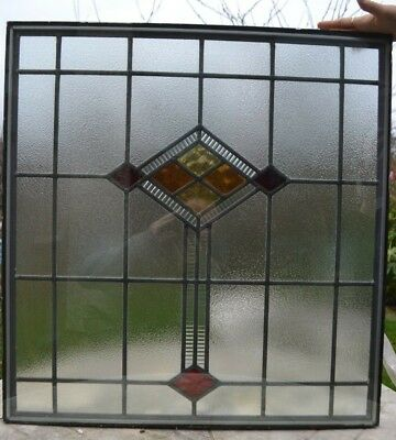 Traditional leaded light stained glass window panel in DOUBLEGLAZED UNIT. R526a.
