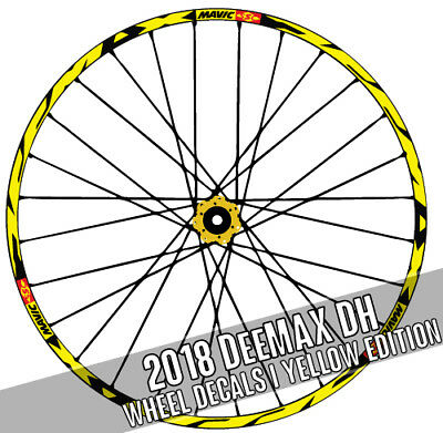 2018 Mavic DEEMAX DH DOWNHILL style decals bike bicycle Wheel Stickers Ultimate
