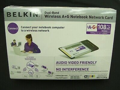Belkin Wireless Wifi Notebook Card Pcmcia Laptop Adaptor Adapter A+G 802.11