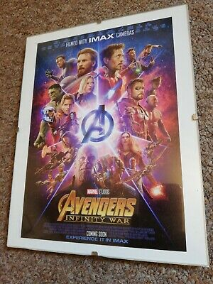 "Avengers Infinity War Movie Poster Print In Clip Frame Wall Art 9"" x 7"" Marvel"
