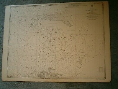 Vintage Admiralty Chart 2008 WEST INDIES - VIRGIN ISLANDS - ANEGADA 1930 edn