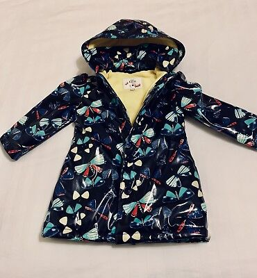 Baby Girl M&S Marks and Spencer Raincoat Blue Coat Jacket 18-24 months 1-2 years