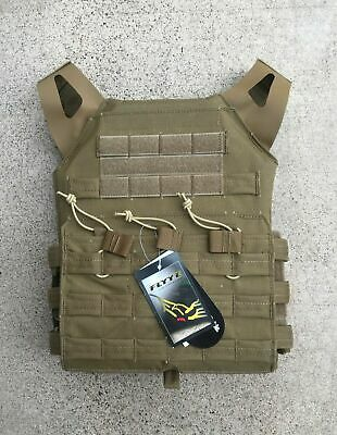 MODI (FLYYE) JPC Swift Tactical Plate Carrier - Coyote Brown - Fabric Webbing
