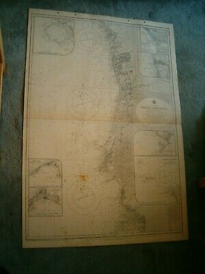 Vintage Admiralty Chart 87 CAPE FINISTERRE to CAPE ST VINCENT 1929 edn
