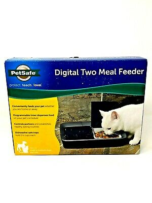 PetSafe Digital Two Meal Feeder PFD00-15426 For Small to Medium Dogs and Cats