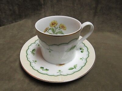 Victorian Gardens by Georges Briard China Corn Marigold Flowe Cup & Saucer