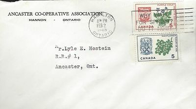 1965 Provincial Flowers #420-1 Nova Scotia & PEI FDC with Ancaster Co-Op cachet
