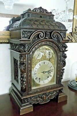 Stunning Large Winterhalder & Hofmeier Bracket Carved Clock