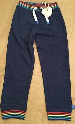 Little Bird By Jools Oliver Age 9-12 Boys/Girls Navy Rainbow Joggers Bnwt 🍄🌈