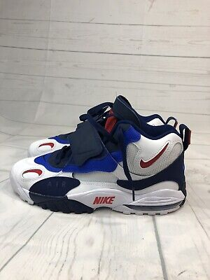 f5332d5777 NEW Mens Sz 10.5 Nike Air Max Speed Turf Giants White Blue Void Racer Blue  Red