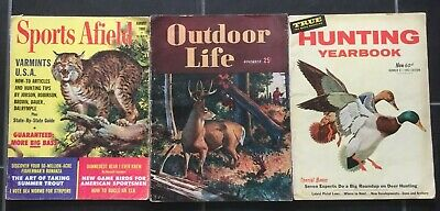 Hunting Yearbook 1957,Outdoor Life 1947,Sports Afield 1966, Jagd Angeln Werbung