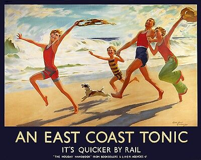 An East Coast Tonic - repro vintage railway travel poster